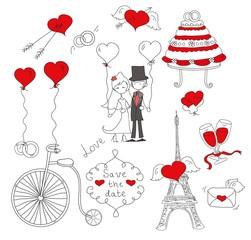 Свадебные каракули, жених, невеста и все для свадьбы