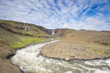 Landscape near Hengifoss waterfall, Iceland