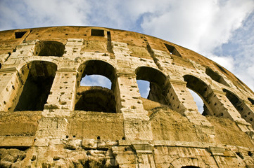 Ancient Amphitheather Coliseum in Rome. Italy.