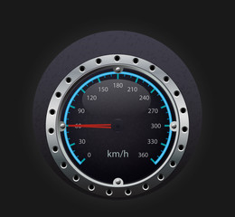 speedometer illustration with glowing indicator
