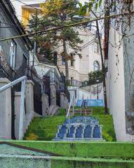 Painted Xenofon Street in Bucharest