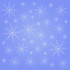 Abstract winter background with snowflakes. Vector illustration.