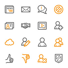 Community. Social media icons set