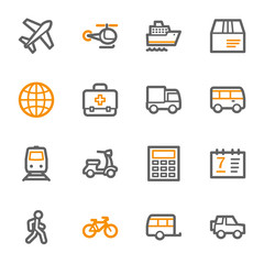Transport web icons set