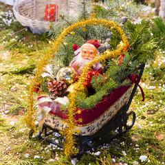 Santa Claus in a carriage
