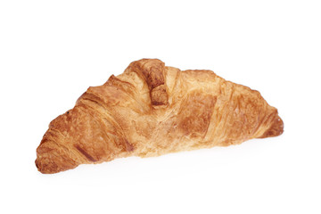 Croissant isolated on white.