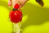 Washing Tomato