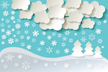 Landschaft Schnee Hintergrund tuerkis
