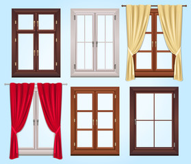Six Vector Type of Windows and Two Curtains