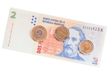 Argentinean money.