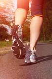 Fototapeta laufen - gesund leben