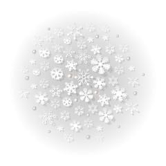 Schnee Kugel grau