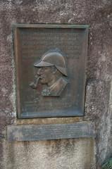 Sherlock Holmes memorial plate