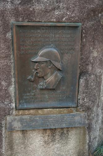 Poster Sherlock Holmes memorial plate