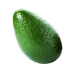 Fresh Whole  Avocado isolated on a white background.  Ripe Beaut