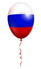 russland vektor ballon isoliert auf weißen hintergrund