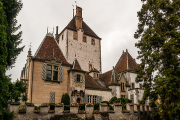 Oberhofen Castle from mainland
