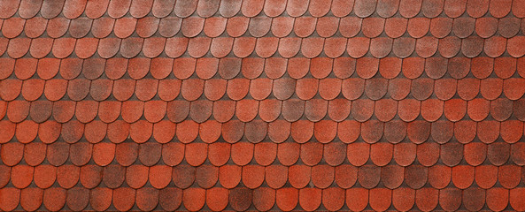 Background of red roof clay tiles