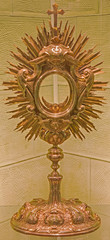 Bratislava - baroque monstrance in st. Martins cathedral.
