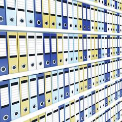 Many office folders