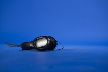 Stereo headset against background