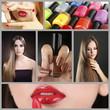 Women beauty collage