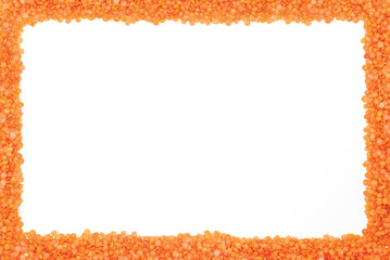 Frame made from lentils