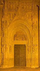 Seville - Puerta de los Palos on the Cathedral at night