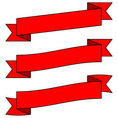 Adjustable Red Banners
