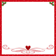 Christmas Background for a Holiday Invitation or Wishes