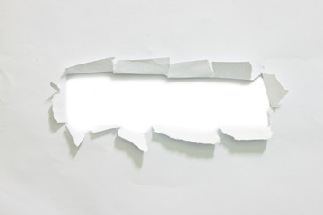 hole on white paper