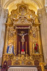 Seville - side altar of El Cristo del Amor in El Salvador church