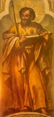 Seville - The fresco of St. Thomas the apostle