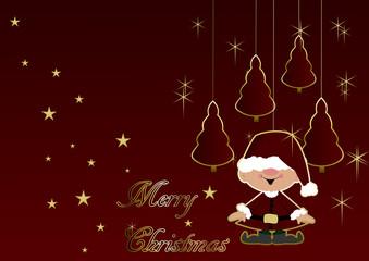 Merry Christmas - Christmas trees and elf