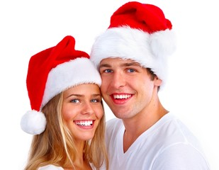 Christmas Santa couple.