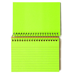 Neon Green Spiral-Bound Note Cards