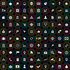 100 finance icons.