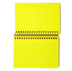 Neon Yellow Spiral-Bound Note Cards