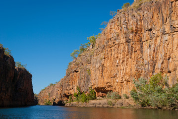 Tall cliffs in Katherine Gorge Australia