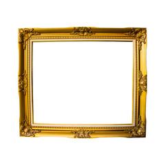 Frame vintage isolated on white background
