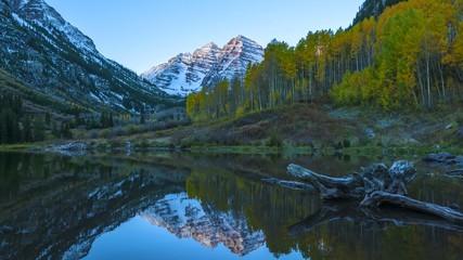 Maroon Bells Sunrise UHD 4k Time-lapse Fall Colorado