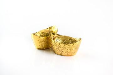Decoration of chinese gold ingots