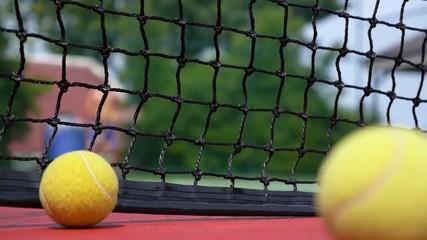 Tennis Balls at the Tennis Court