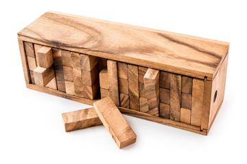 Blocks of wood, JENGA Game On white background