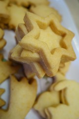Christmas confectionery shortbread stars