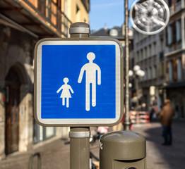 Chambéry,place Saint-Léger, zone piétonnière