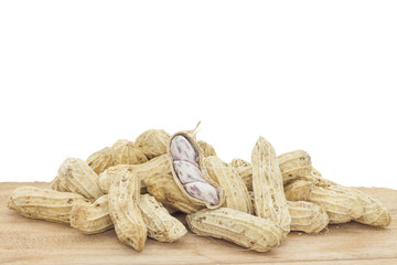 groundnut isolated on white background