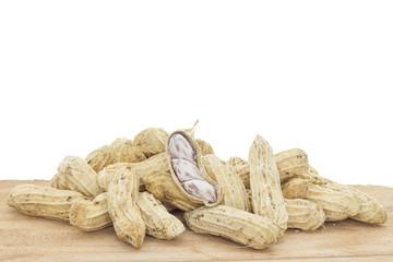 groundnut isolated on white background