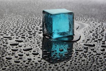 Blue ice cube