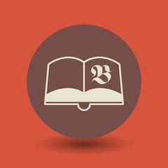 Retro book symbol, vector
